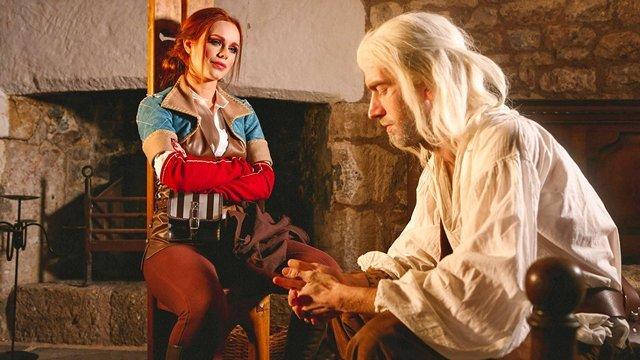 Пародия порно Талантливая леди с легкостью делает из Ведьмака преданного любовника и знакомится с его фаллосом видео
