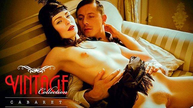 Ретро порно Прелестная винтажная участница кабаре отдается своему любовнику в ретро-стиле и предлагает погружение в разврат видео
